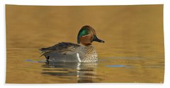 Green Wing Teal Beach Towel by Bryan Keil