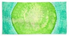 Green World Original Painting Beach Towel