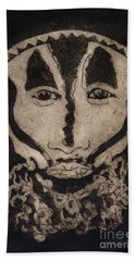 Greetings From New Guinea - Mask - Tribesmen - Tribesman - Tribal - Jefe - Chef De Tribu Beach Sheet