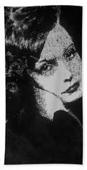 Greta Garbo Beach Towel