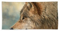 Grey Wolf 3 Beach Towel
