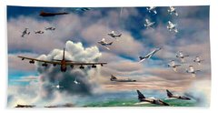 Griffiss Air Force Base Beach Sheet by Dave Luebbert