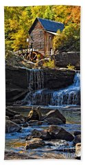 Grist Mill In Babcock State Park West Virginia Beach Towel