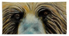 Grizzly Eyes Beach Towel by Jeanne Fischer