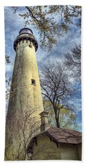 Grosse Point Lighthouse Color Beach Towel