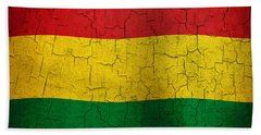 Grunge Bolivia Flag Beach Towel