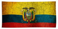 Grunge Ecuador Flag Beach Towel