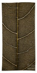 Beach Sheet featuring the photograph Grunge Leaf Detail by Carsten Reisinger