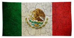 Grunge Mexico Flag Beach Towel
