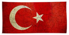 Grunge Turkey Flag Beach Towel