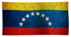 Grunge Venezuela Flag Beach Towel