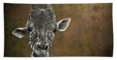 Grungy Giraffe 5654 Brown Beach Sheet