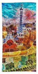 Guell Park Beach Towel by Mo T