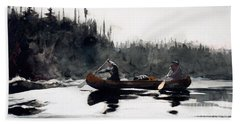 Guides Shooting Rapids Beach Towel