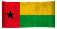 Guinea Bissau Flag Vintage Distressed Finish Beach Towel