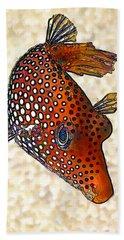 Guinea Fowl Puffer Fish Beach Towel