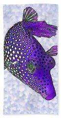Guinea Fowl Puffer Fish In Purple Beach Sheet