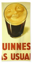 Guinness As Usual Beach Towel