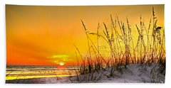 Gulf Sunset Beach Towel by Marvin Spates