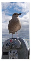 Beach Towel featuring the photograph Gull by Mim White
