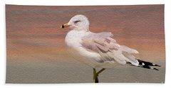 Gull Onthe Beach Beach Towel