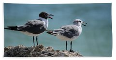 Gull Talk Beach Sheet by Susan Molnar