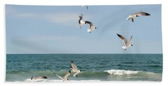 Gulls A Dance'n Beach Towel