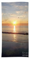 Gulls Dance In The Warmth Of The New Day Beach Towel