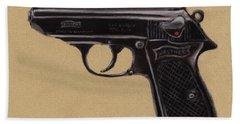 Gun - Pistol - Walther Ppk Beach Towel