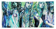 Guns N' Roses - Watercolor Portrait Beach Sheet