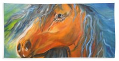 Beach Towel featuring the painting Gypsy by Jenny Lee