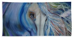 Beach Towel featuring the painting Gypsy Shadow by Jenny Lee
