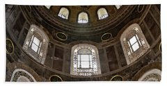 Hagia Sofia Interior 06 Beach Towel by Antony McAulay