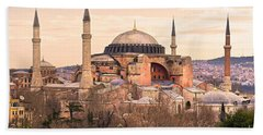 Hagia Sophia Mosque - Istanbul Beach Sheet by Luciano Mortula