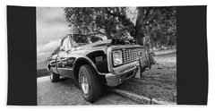 Halcyon Days - 1971 Chevy Pickup Bw Beach Towel