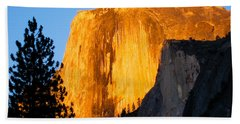Half Dome Yosemite At Sunset Beach Towel