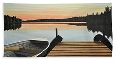 Haliburton Dock Beach Towel