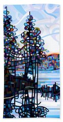 Haliburton Morning Beach Towel by Mandy Budan