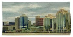 Halifax From The Harbour Beach Towel
