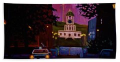 Halifax Night Patrol And Town Clock Beach Towel