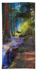 Hall Valley Moose Beach Towel by J Griff Griffin