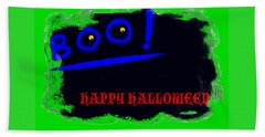 Beach Towel featuring the digital art Halloween Boo by Christopher Rowlands
