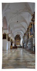 Beach Sheet featuring the photograph Hallway Of A Church Munich Germany by Imran Ahmed