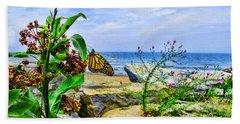 Beach Towel featuring the photograph Hamburg Beach On Lake Erie by John Freidenberg