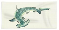 Hammerhead Shark Beach Towel
