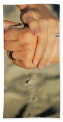 Beach Sheet featuring the photograph Hands Of Time by Leticia Latocki