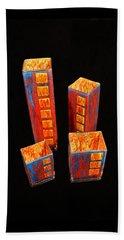 Hand Painted Glass Set Of Four Reds Beach Sheet