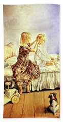Hands Of Devotion - Childhood Beach Towel by Linda Simon