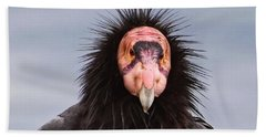 Handsome California Condor Beach Towel