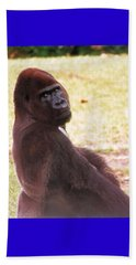 Beach Towel featuring the photograph Handsome Gorilla by Belinda Lee